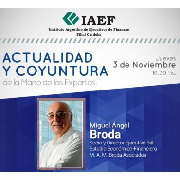 Miguel Ángel Broda en Córdoba - Ciclo de Actualidad y Coyuntura - Socios CTC s/cargo
