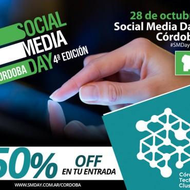 28/10 ll El Cluster te invita al Social Media Day Córdoba ll 50%OFF