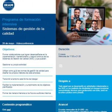 D-23   Programa de formación intensiva en sistemas de gestión de la calidad
