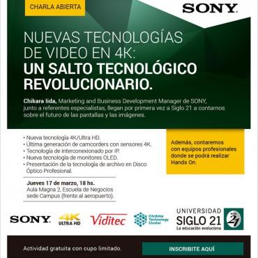 17/03 Charla Abierta: Nuevas Tecnologías de Video en 4K