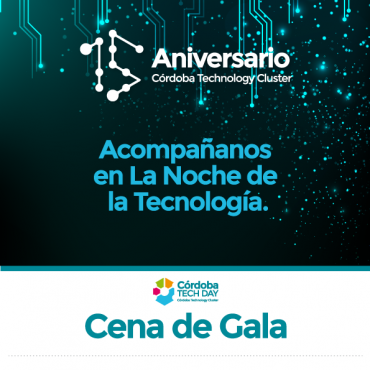 20/09 CENA DE GALA #Cluster15 - 21 hs. Sheraton Córdoba Hotel. Reserva tu lugar
