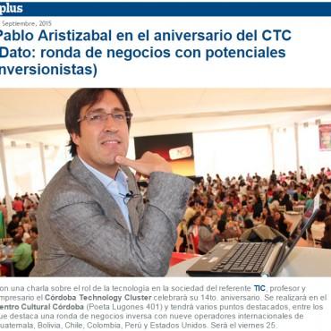 Pablo Aristizábal en el aniversario del CTC