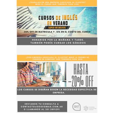 Convenio CTC + Go Idiomas (20 % OFF Curso de Inglés en Verano)