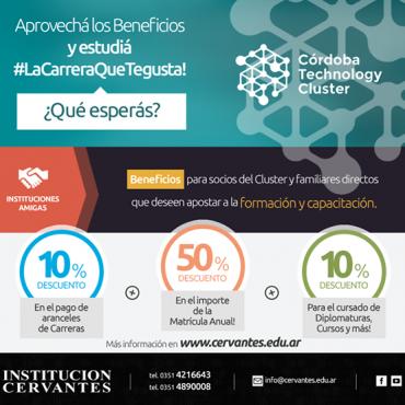 10% OFF en carreras, diplomaturas y cursos - Convenio Cluster + Cervantes