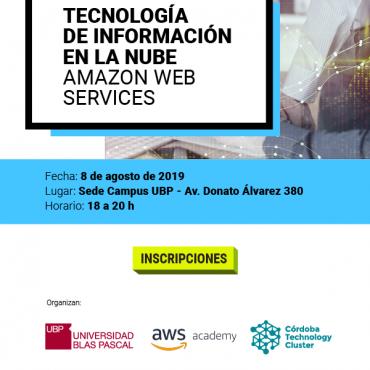 08/08 Conferencia: Tecnología de Información en la Nube Amazon Web Services