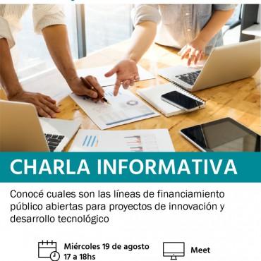 19/08 [INVITACIÓN]: Presentación de líneas de financiamiento para Desarrollo Tecnológico