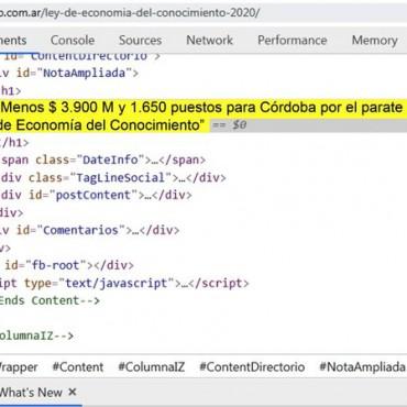 Menos $ 3.900 M y 1.650 puestos para Córdoba por el parate de la Ley de Economía del Conocimiento
