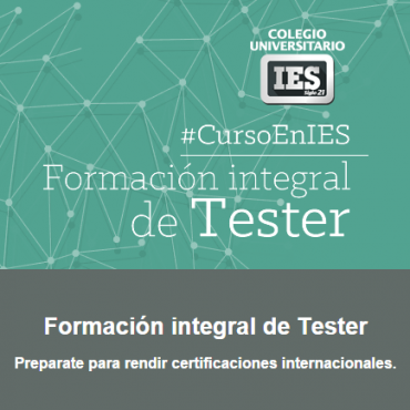 10% OFF - Formación integral de Tester - Convenio Cluster