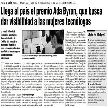 Llega al país el premio Ada Byron, que busca dar visibilidad a las mujeres tecnólogas
