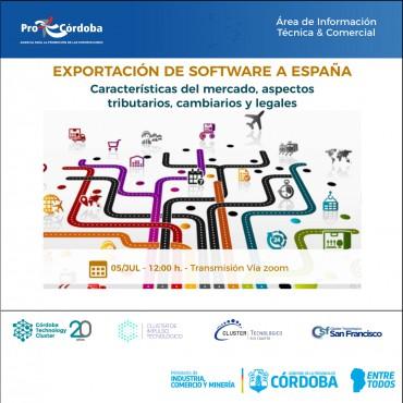 05/07 [CAPACITACIÓN]: Exportación sector software a España