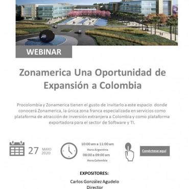 """27/05 [INVITACIÓN] Software y TI: Webinar: """"Zonamerica Una Oportunidad de Expansión a Colombia"""""""