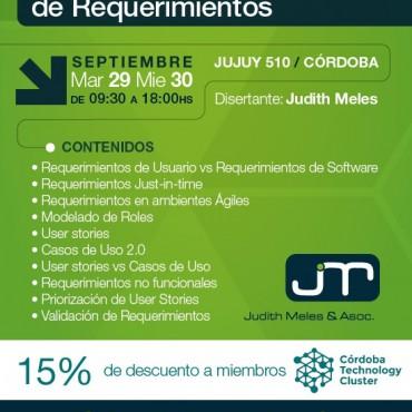 15% OFF - Clínica sobre Definición Colaborativa de Requerimientos - Convenio Cluster + JM