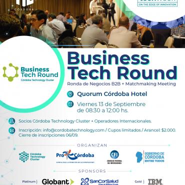 13/09 [INSCRIBITE]: Business Tech Round/ Ronda de Negocios/ #CórdobaTechWeek