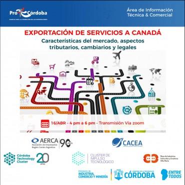 """16/04 [CAPACITACIÓN]:""""Exportaciones de servicios a Canadá"""""""