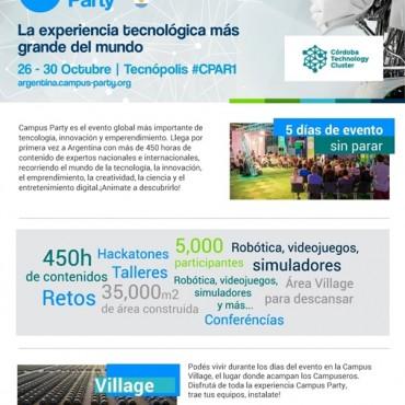 26-30 de octubre Campus Party en Tecnópolis