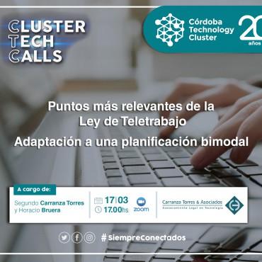 [INVITACIÓN] [Cluster Tech Calls] Ley de Teletrabajo