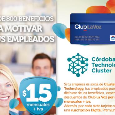 Beneficios ClubLaVoz + Cluster