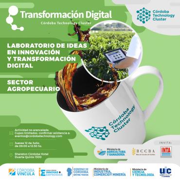 """12/07 [SECTOR AGRO] [INVITACIÓN] Desayuno - Programa """"Laboratorio de Ideas en Innovación y Transformación Digital"""""""