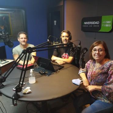 Pablo Gigy, presidente del Cluster Tecnológico Córdoba conversa con Luis Zegarra y equipo de radio 580 Universidad