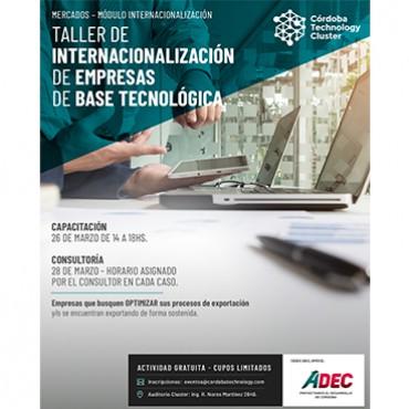 26/03 [CAPACITACIÓN] Taller de Internacionalización de Empresas de Base Tecnológica