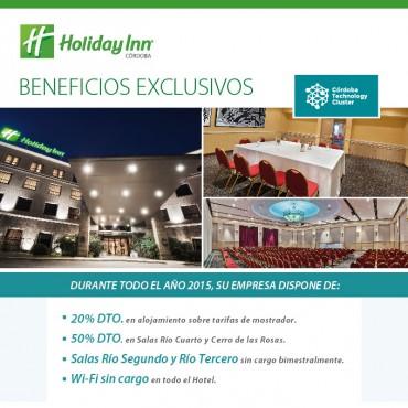 20% OFF en alojamiento, 50 % en salas - Convenio Cluster + Holiday Inn