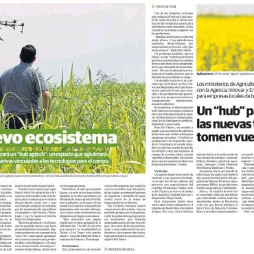 """El nuevo ecosistema: Un """"hub agtech"""" para que las nuevas tecnologías tomen vuelo en Córdoba"""