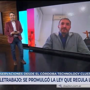 El presidente del Córdoba Technology Cluster , PabloGigy habla con Canal 10