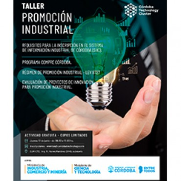 """13/06 [INVITACIÓN]: """"Taller de Promoción Industrial"""""""