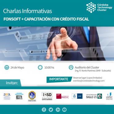 Charlas Informativas: FONSOFT + CAPACITACIÓN CON CRÉDITO FISCAL