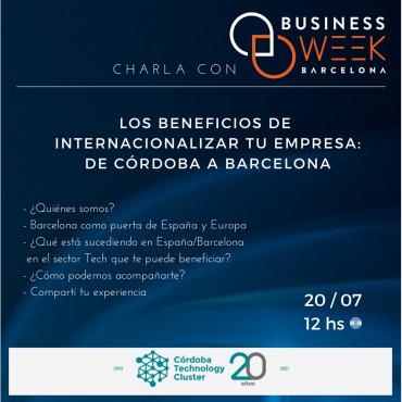 20/07 [INVITACIÓN]: Los beneficios de internacionalizar tu empresa de Córdoba a Barcelona