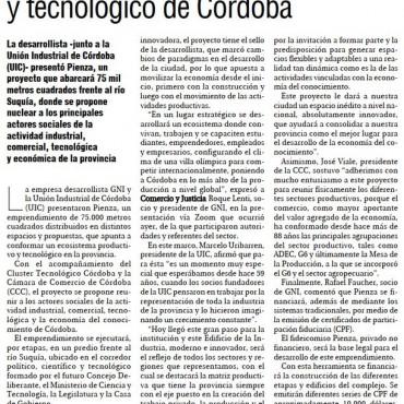 GNI Desarrollos, lanzó un emprendimiento que reunirá los sectores productivo y tecnológico de Córdoba