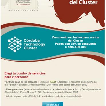 35% OFF - Combo de servicios - Convenio Cluster + Peñón del Águila