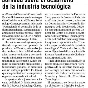 Jornada sobre el desarrollo de la industria tecnológica