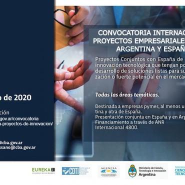 Convocatoria Internacional Proyectos Empresariales Argentina y España