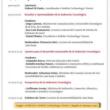 16/10 CHARLA: Potenciando el desarrollo de la Industria Tecnológica – Sustentabilidad y Articulación Pública Privada