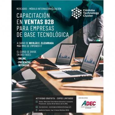 [CAPACITACIÓN] Ventas B2B para Empresas de base tecnológica – MÓDULO INTERNACIONALIZACIÓN