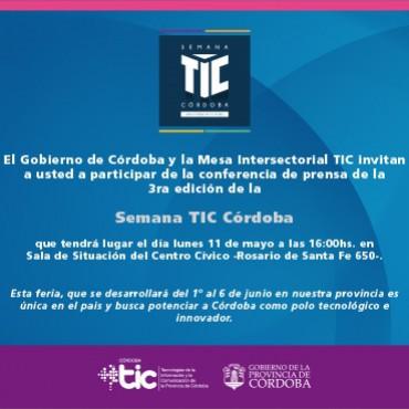 11/05 Conferencia de prensa  - SEMANA TIC CÓRDOBA 3° edición - 16 hs. en Centro Cívico