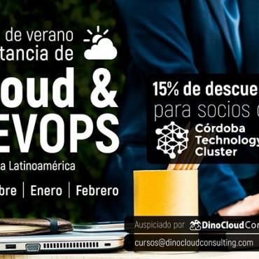 Convenio Cluster + Dino Cloud (Curso de verano a distancia de Cloud & Devops 15 % de descuento a socios)