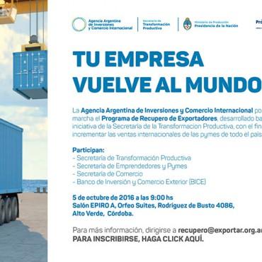 Lanzamiento del Programa de Recupero de Exportadores