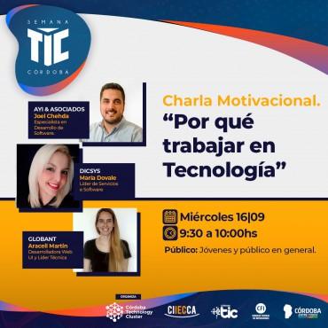 16/09 [INVITACIÓN]: ¿Por qué trabajar en Tecnología?