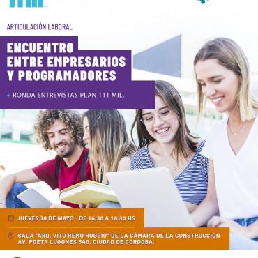 30/05 Encuentro con empresarios y programadores Plan 111 Mil Córdoba
