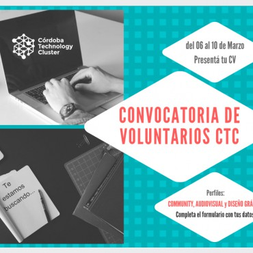 ¿Querés ser voluntario del Córdoba Technology Cluster? ANOTATE
