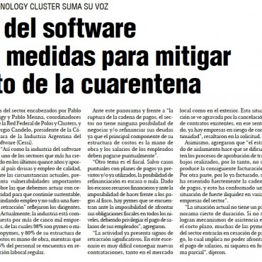 Industria del software demanda medidas para mitigar el impacto de la cuarentena
